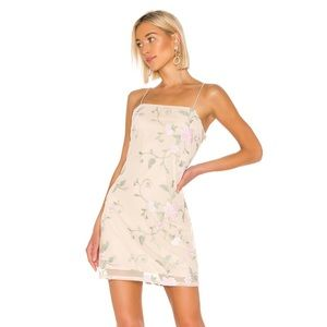 X REVOLVE MINI DRESS IN TEA, KENDALL AND KYLIE